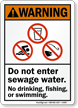 Do Not Enter Sewage Water No Drinking Sign