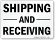 Shipping and Receiving Sign
