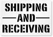 Shipping And Receiving Sign Floor Stencil