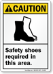 Caution Safety Shoes Required Sign