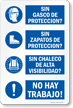 Spanish Proper Ppe Required Construction Safety Sign