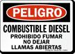 Combustible Diesel Prohibido Fumar, Spanish Diesel Fuel Sign