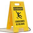 Cuidado Condiciones De Heladas, Spanish Icy Conditions Sign