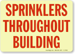 Sprinklers Throughout Building Glow Sign