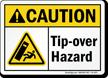 Tip Over Hazard Caution Sign