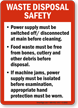 Waste Disposal Safety Guidelines Sign