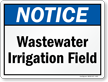 Wastewater Irrigation Field Sign