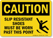 Wear Slip Resistant Shoes Caution Sign