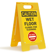 Wet Floor Closed For Cleaning Caution Sign