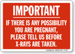 X ray Warning Sign