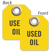 Used Oil Mini Tag