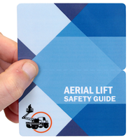 Aerial Lift Safety Guide Bi-Fold Safety Wallet Card