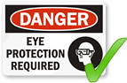 Compare with our PPE sign