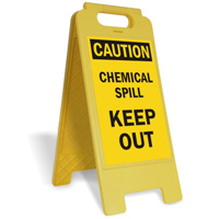 Chemical Spill Keep Out FloorBoss Floor Sign