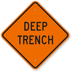 Deep Trench sign