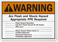 Warning Arc Flash Sign