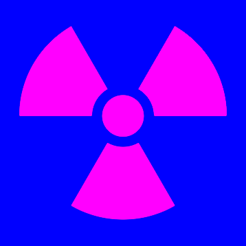 Radiation Warning Symbol Color Correction