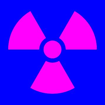 Radiation Warning Symbol Color Correction