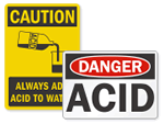 Acid & Caustic Warning Signs
