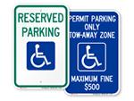 ADA Handicap Parking Signs