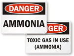 Ammonia Safety Signs
