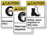 ANSI Caution Signs