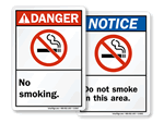ANSI Smoking Signs