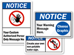 ANSI Notice Signs
