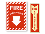 Directional / Arrow Fire Extinguisher Signs