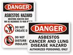 Asbestos Area Signs