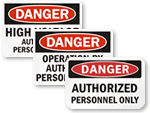 ANSI Authorized Personnel Signs