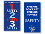 Avoid Accidents Safety Banners