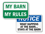 Barn Rules Signs