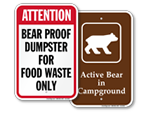 Bear Proof Dumpster Signs