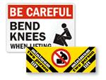 Lifting Hazard Signs