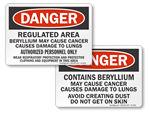 Beryllium Warning Signs