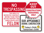 Big Construction Signs