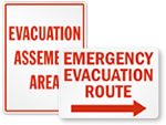 Big Evacuation Signs