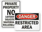 Big Private Property Sign