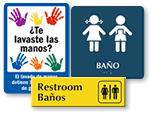 Bilingual Bathroom Sign