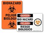 Bilingual Biohazard Stickers