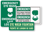 Bilingual Eyewash Signs