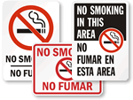 Bilingual No Smoking Signs