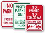 Bilingual Parking Sign