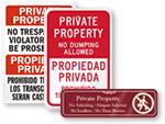 Bilingual Property Sign