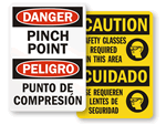 Bilingual Safety Signs