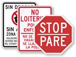 Bilingual School Sign