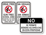 Bilingual School Signs