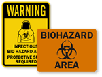 Biohazard Area Warnings