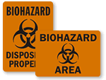 Biohazard Area Signs
